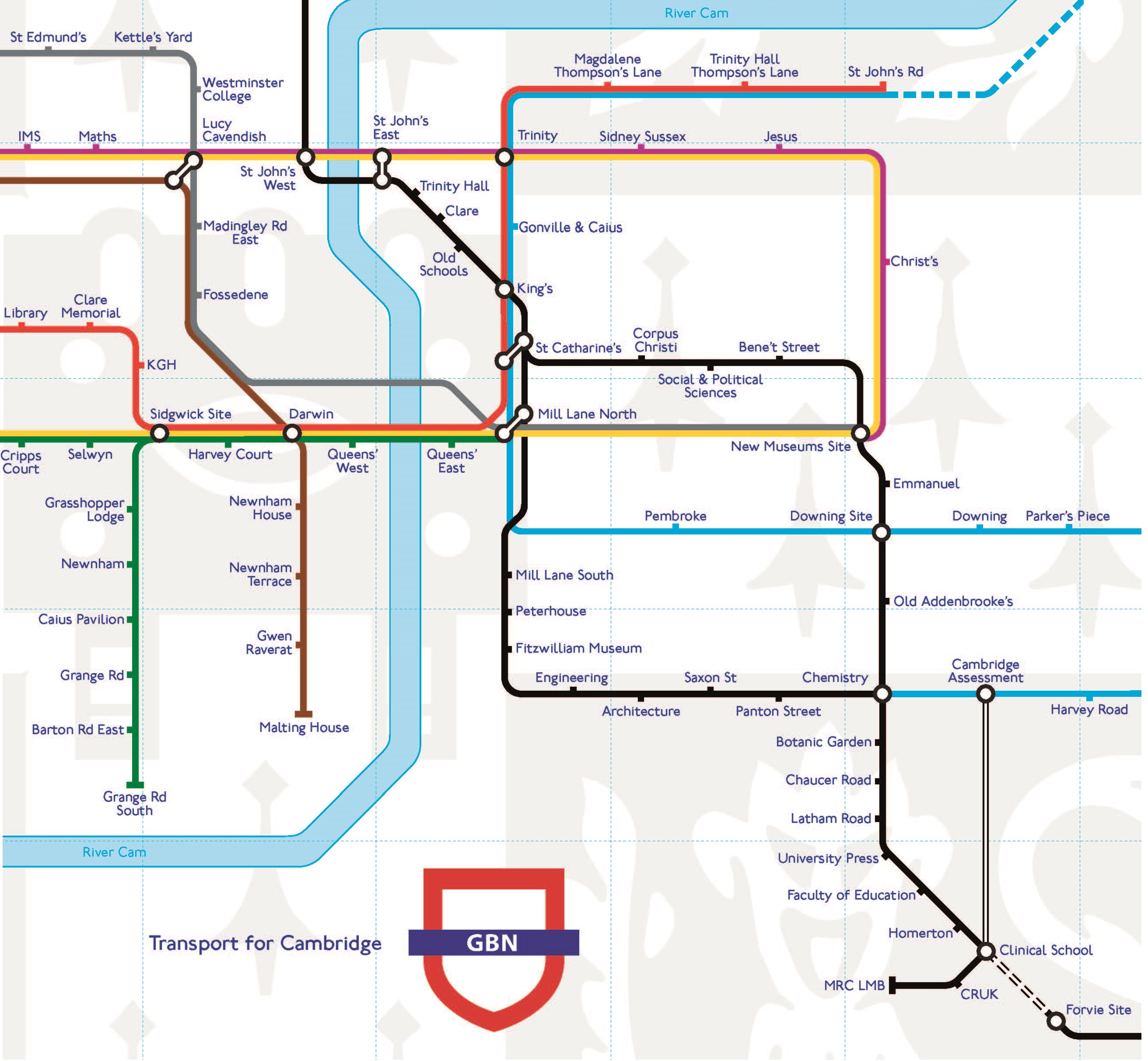 Check out Cambridges brand new Underground techmap University of