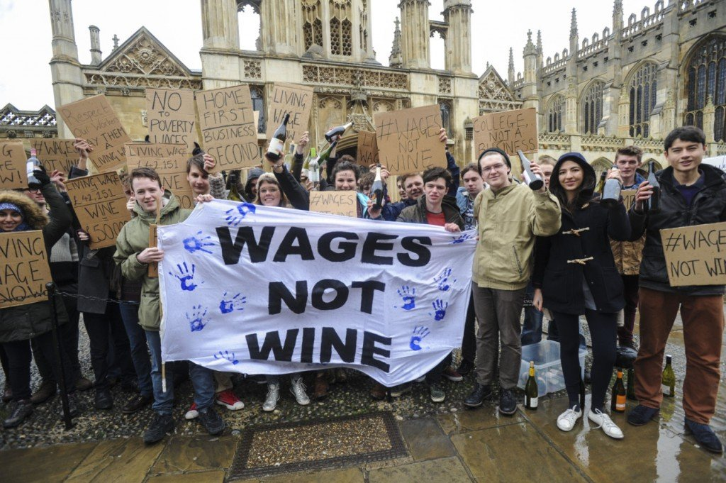 Student politicians, or champagne socialists?