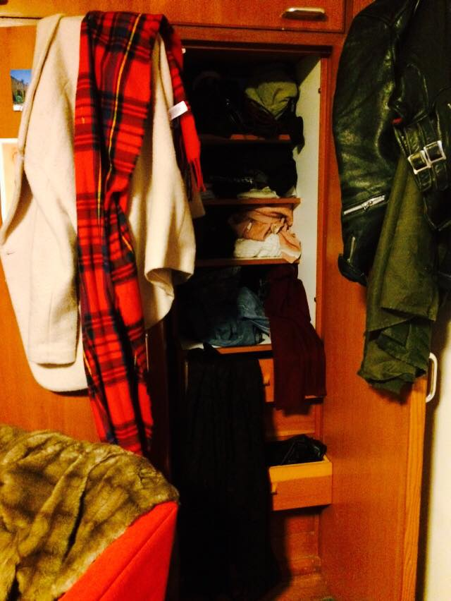 The wardrobes here are too small