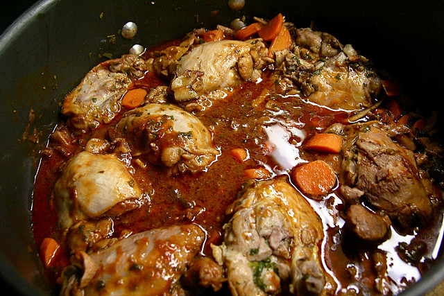 Looks way too much like chunder to warrant the name 'Coq au Vin'