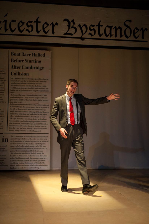 McNab dominates the stage. Credit: Johannes Hjorth