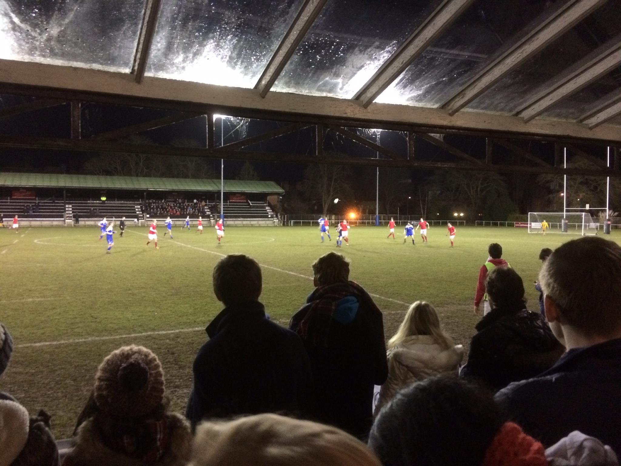 An ariel battle in the midfield
