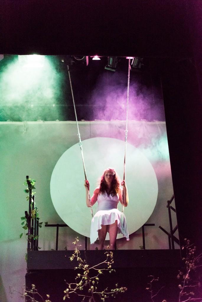 Alice Carlill as the Moon (Photo: Johannes Hjorth)
