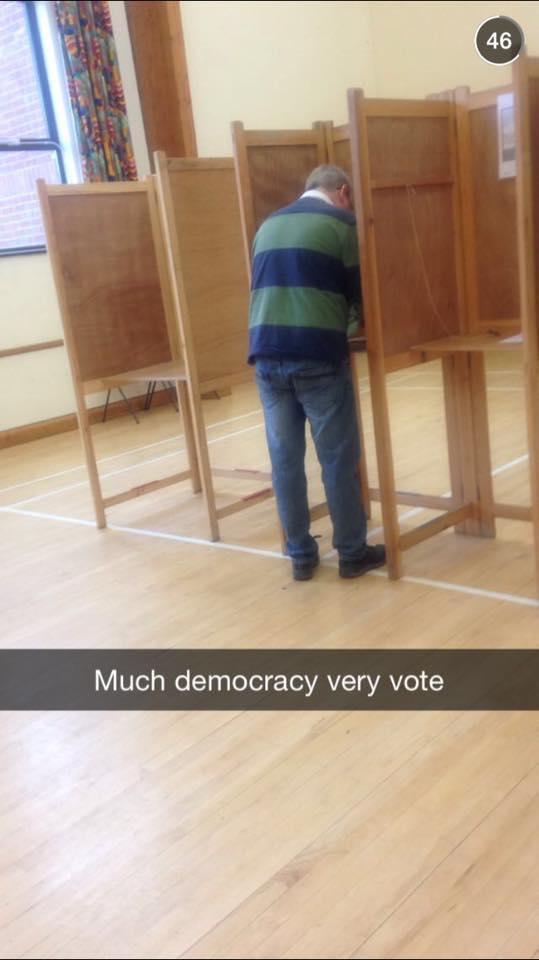 Democracy lol #snapit