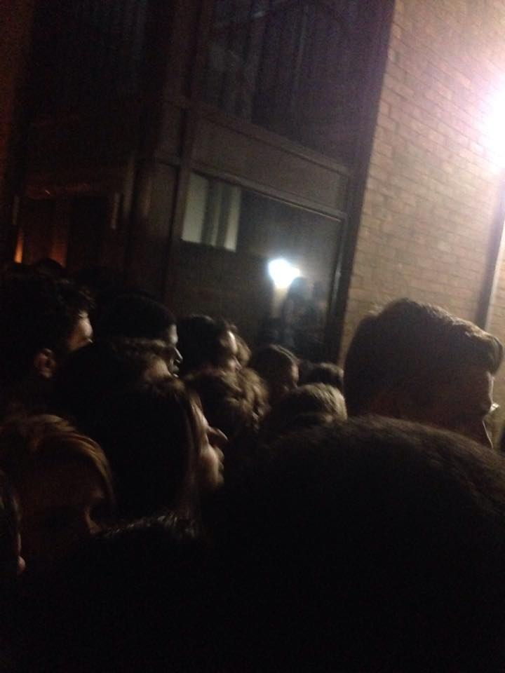 The scene outside Cindies