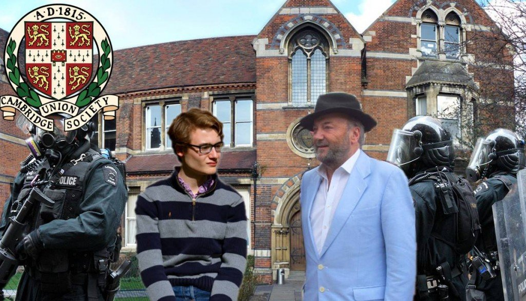 George Galloway, Oliver Mosley and Police / Security at the Union
