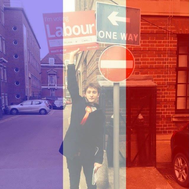 Labour placard + tricolore = tacky online activist, selon many a status.