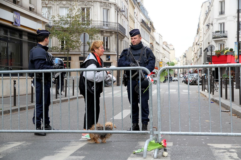The day after the attacks.