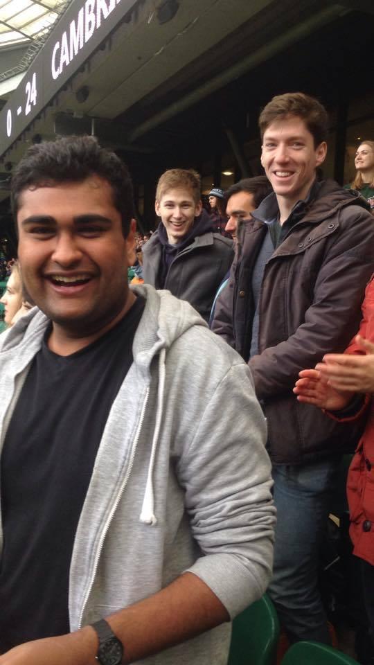 Happy Cambridge fans