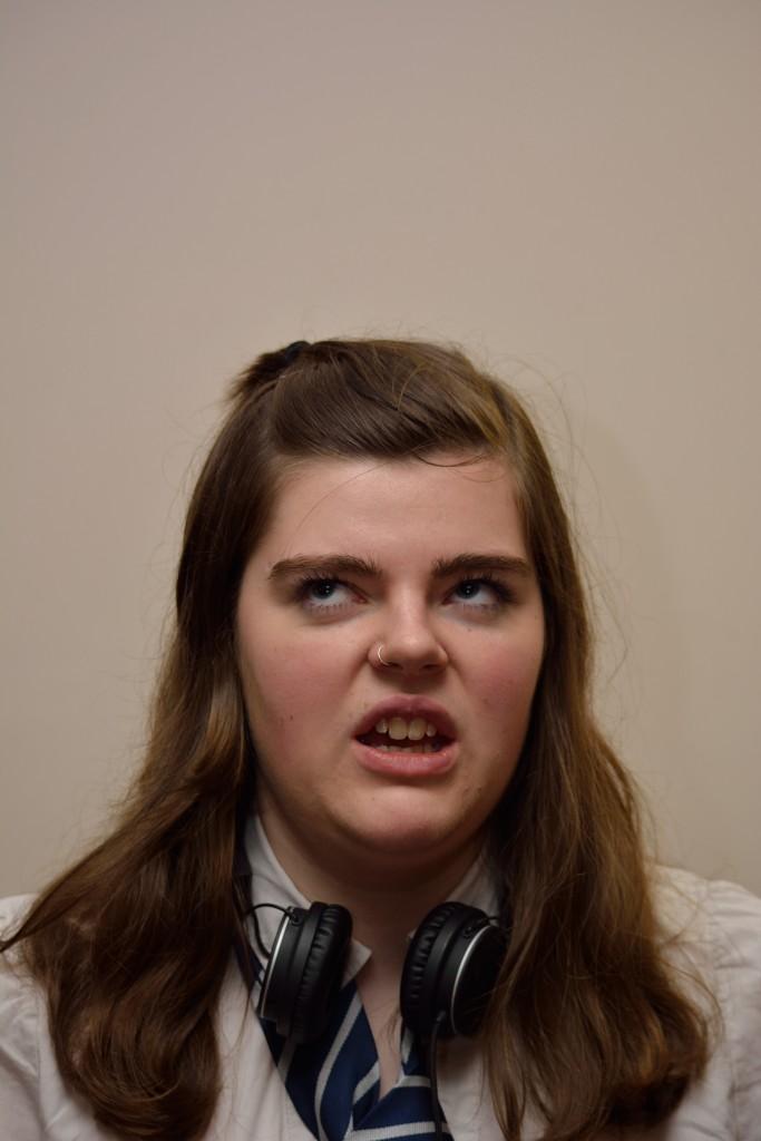 Jasmin Rees stars as Timms. (Photo Credit: Freddie Dyke)