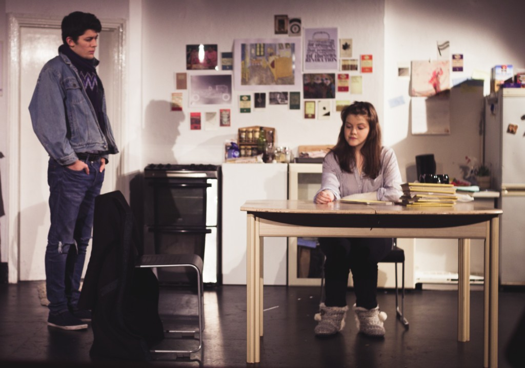 Tom Taplin and Georgie Henley, who offers a 'masterclass in naturalistic acting'. Photo Credit - Gabriel Agranoff.