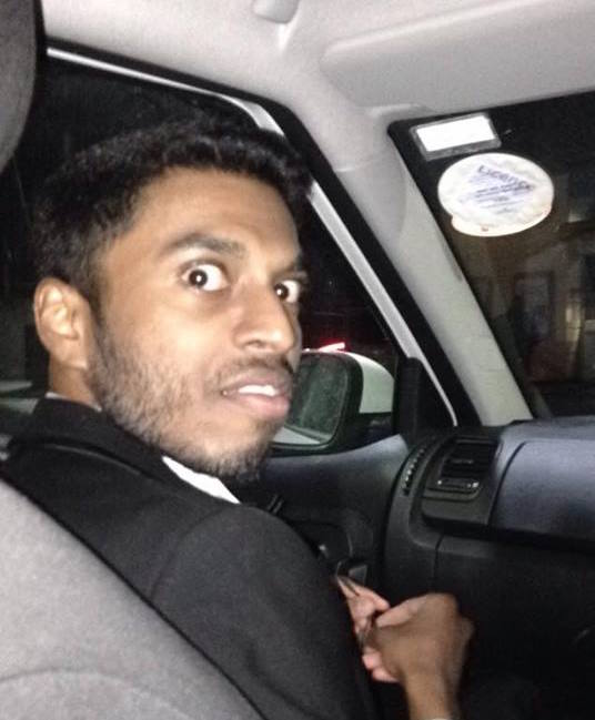 One shell-shocked undergrad in a cab