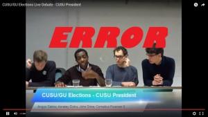 CUSU election ERROR