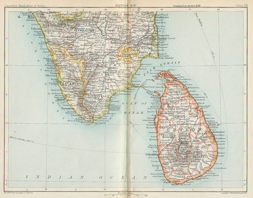 See, we managed to find at least one map that still calls it Ceylon.