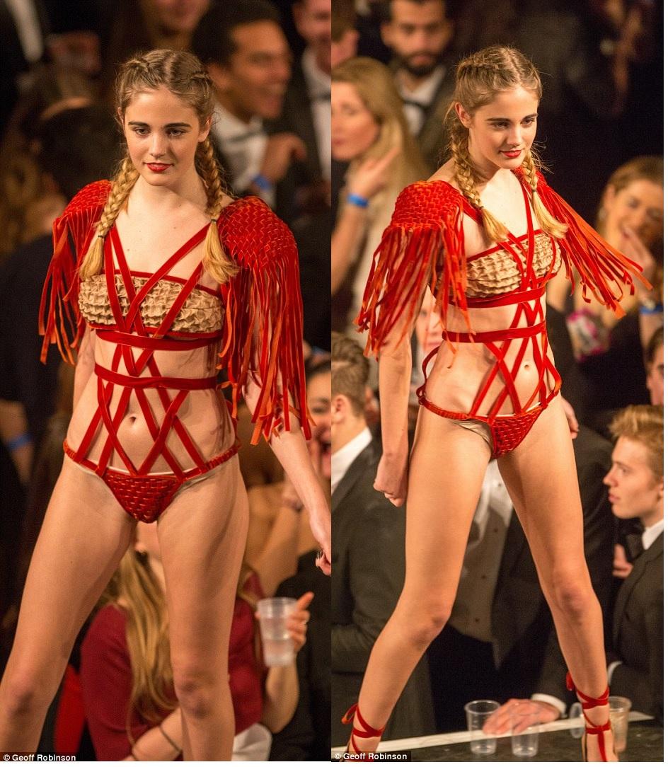 Pippa Bull Fashion Show Bondage Gear