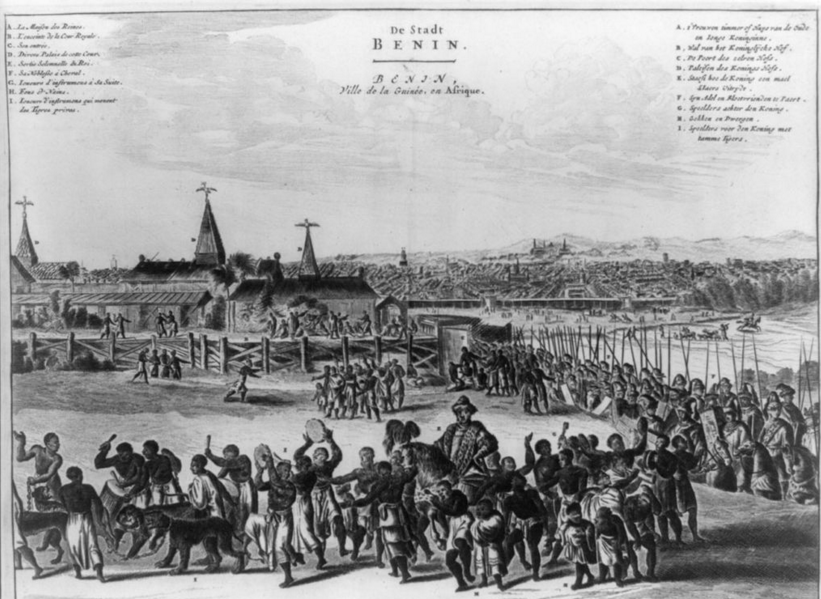 Benin city in the 1600s.