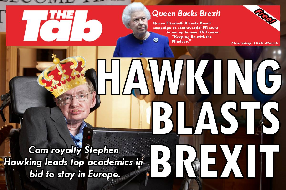 While the Queen backed Brexit...