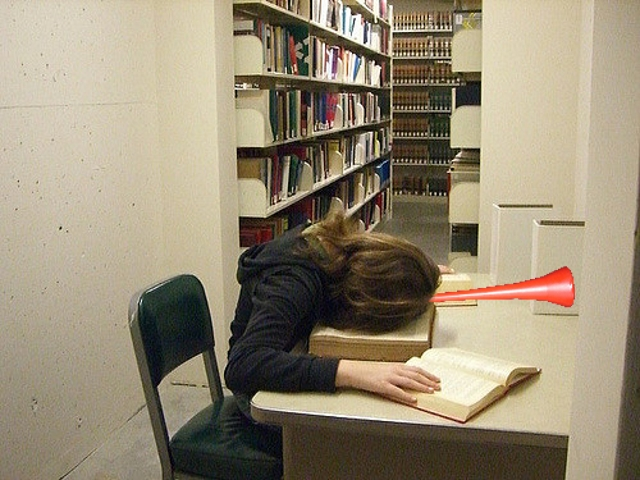You might be good at revising, but try not to blow your own trumpet in the library