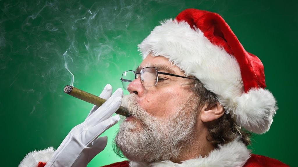 """Daddy"" Christmas enjoying a post-coital cigar."