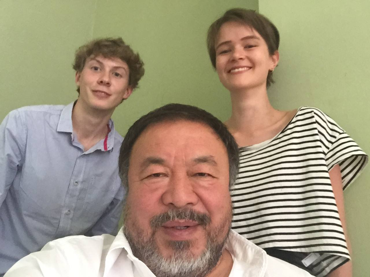 Note that Ai Weiwei also enjoys selfies - even with Tab journalists