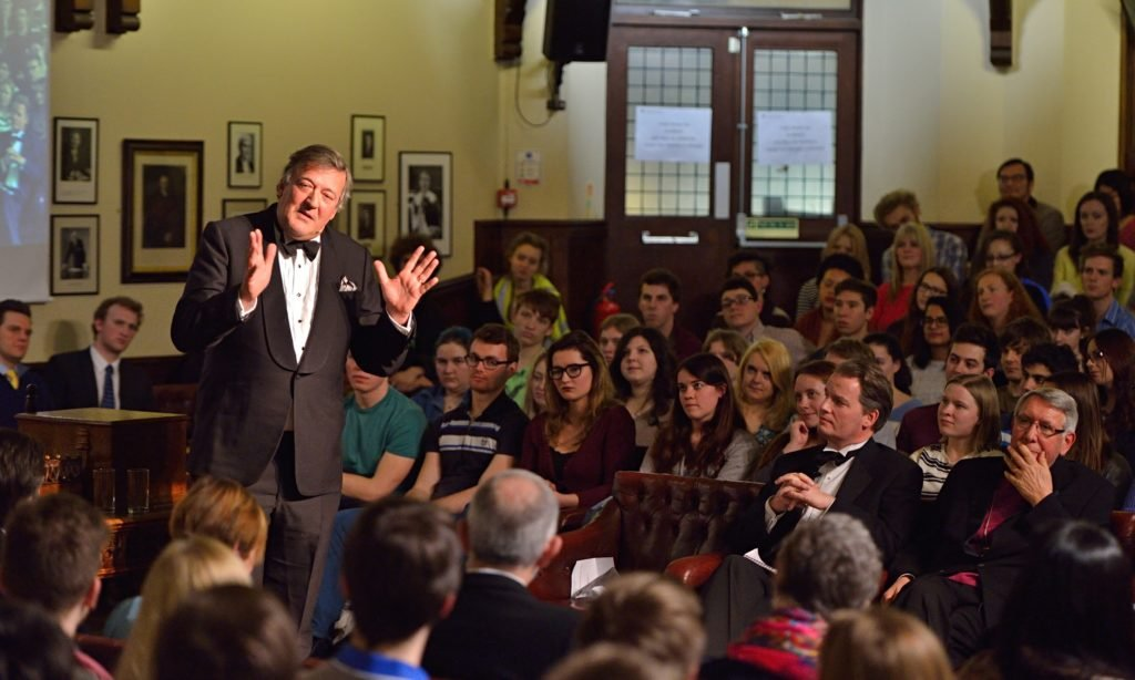 Stephen Fry, Cambridge Union