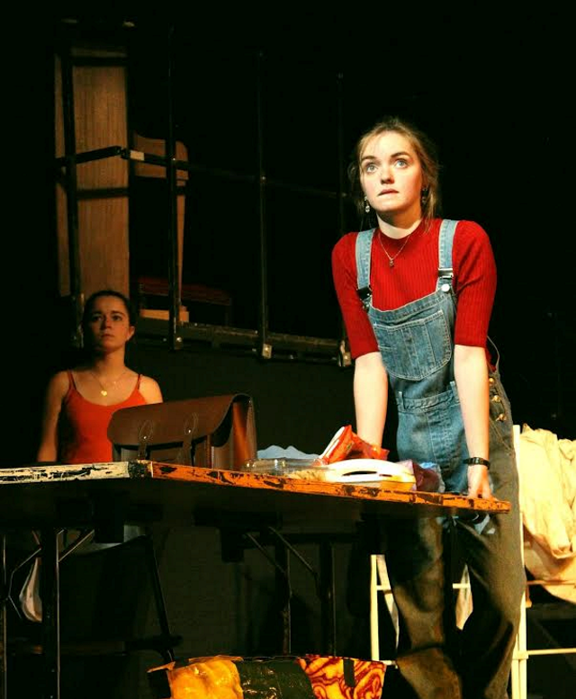 Isobel Laidler as Kay and Elise Hagan as the Author