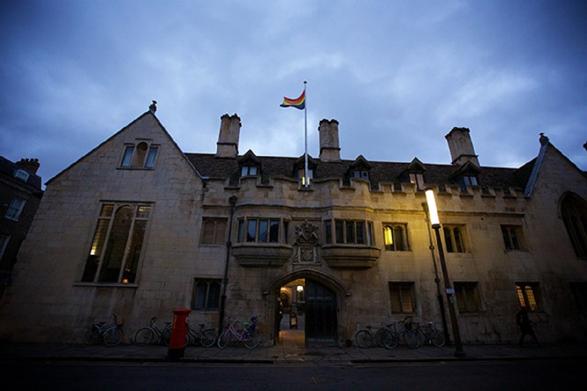 Many Cambridge colleges fly the rainbow pride flag at the start of February, LGBT History Month