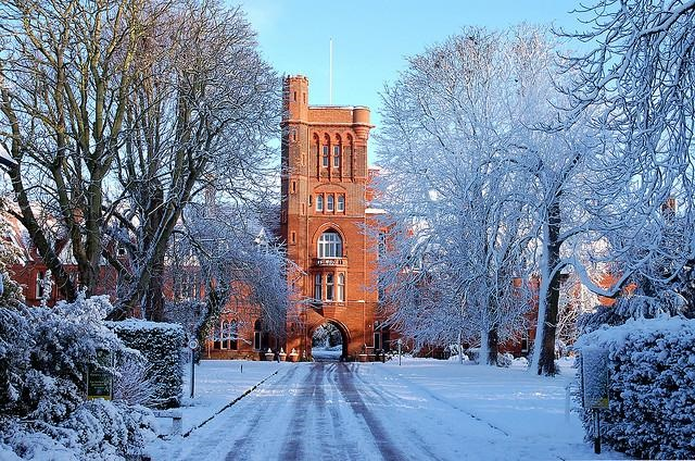 Maybe Girton is like Narnia - it's always winter but never Christmas.