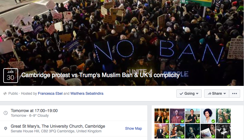 Trump Protest To Take Place In Cambridge TODAY Following Muslim - Map of us trump v hil