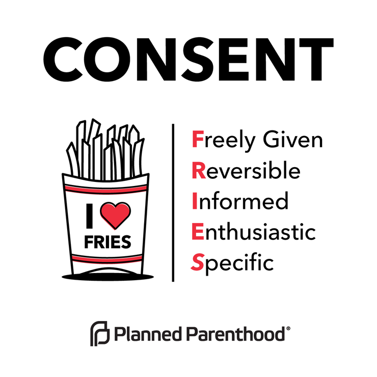 We love fries and we all love consent