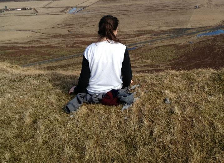 Me, at 15, on DofE: Looking out to the Brink of my Future.