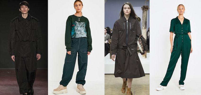 Image may contain: Pajamas, Runway, Trench Coat, Overcoat, Coat, Clothing, Person, People, Human