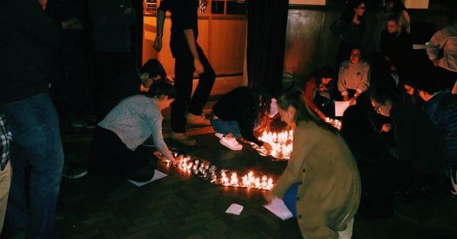 Image may contain: Bonfire, Vigil, Flame, Fire, Human, Person