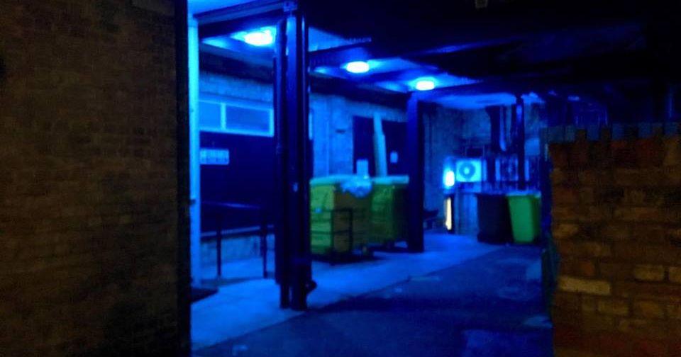 Image may contain: Corridor, Door, Lighting