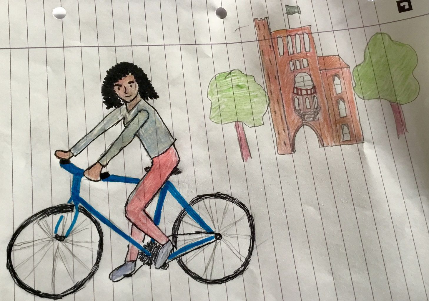Image may contain: Drawing, Art, Human, Person, Machine, Wheel, Vehicle, Transportation, Bicycle, Bike