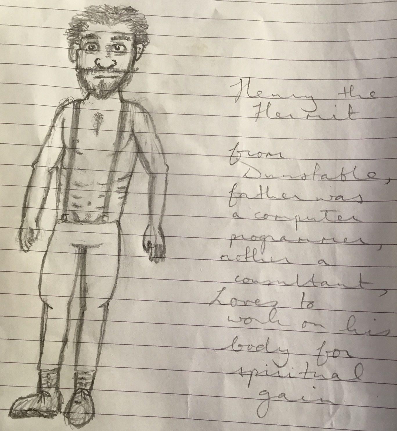 Image may contain: Handwriting, Sketch, Drawing, Person, Human, Art, Text
