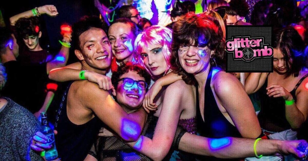 Image may contain: Accessories, Accessory, Sunglasses, Night Life, Night Club, Club, Person, Human, Party