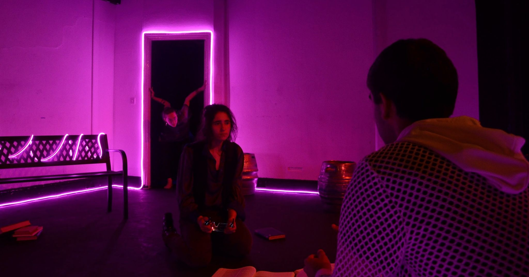 Image may contain: Light, Club, Bar Counter, Pub, Lighting, Interior Design, Indoors, Night Life, Human, Person