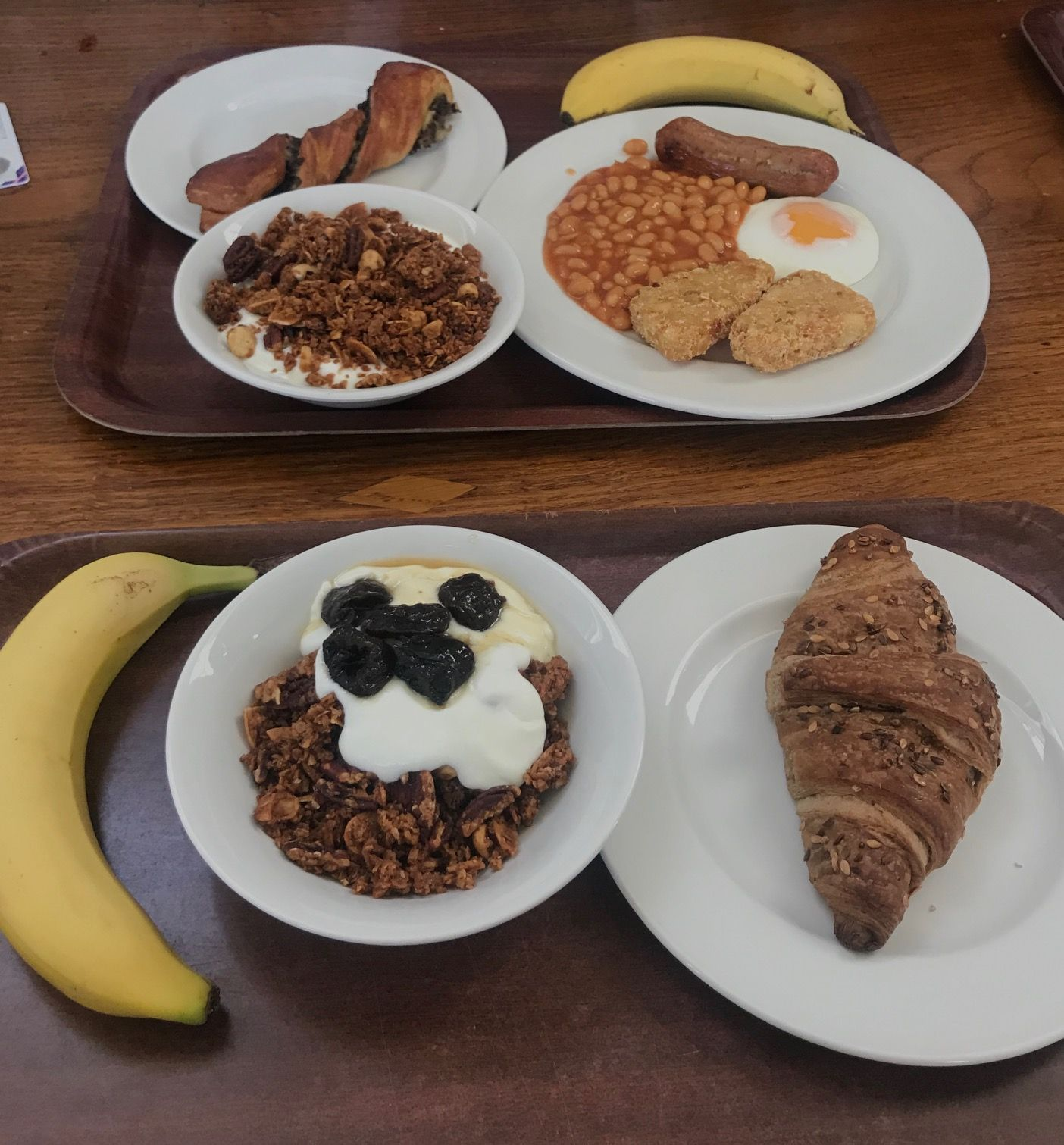 Image may contain: Pottery, Banana, Fruit, Bread, Breakfast, Meal, Dish, Food, Plant