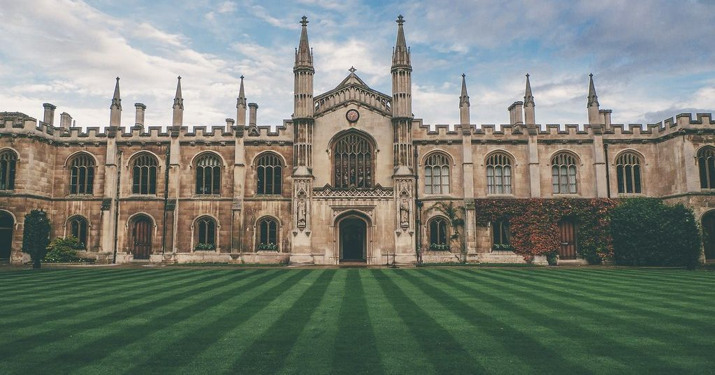Image may contain: Cathedral, Church, Campus, Architecture, Building, College, Plant, Grass