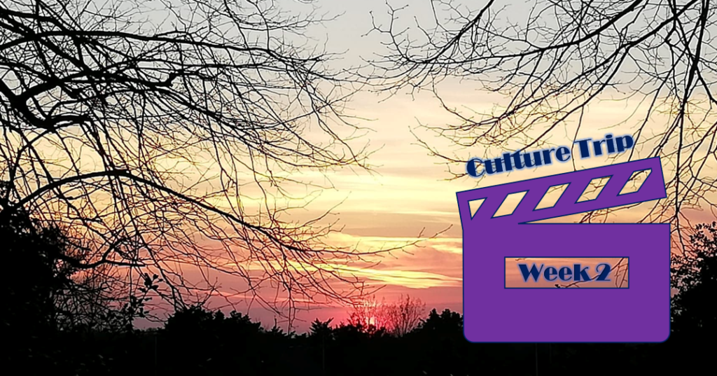 A sunset with a graphic saying 'Culture Trip Week 2' overlaid.