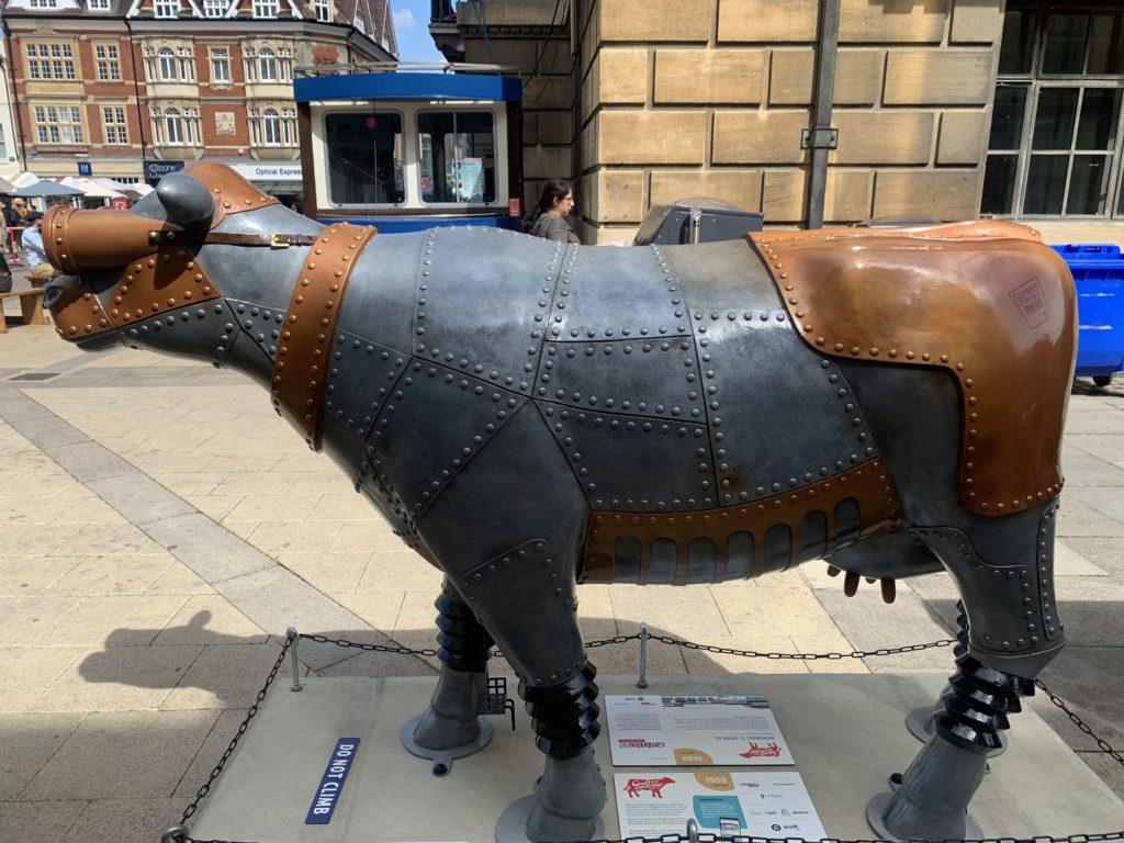 Steampunk-esque cow