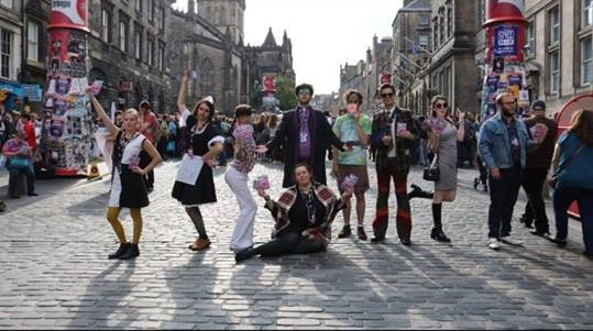 magic on the streets of Edinburgh