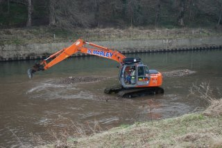 The dredging operations earlier this year