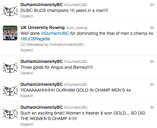 DUBC tweeted about their success