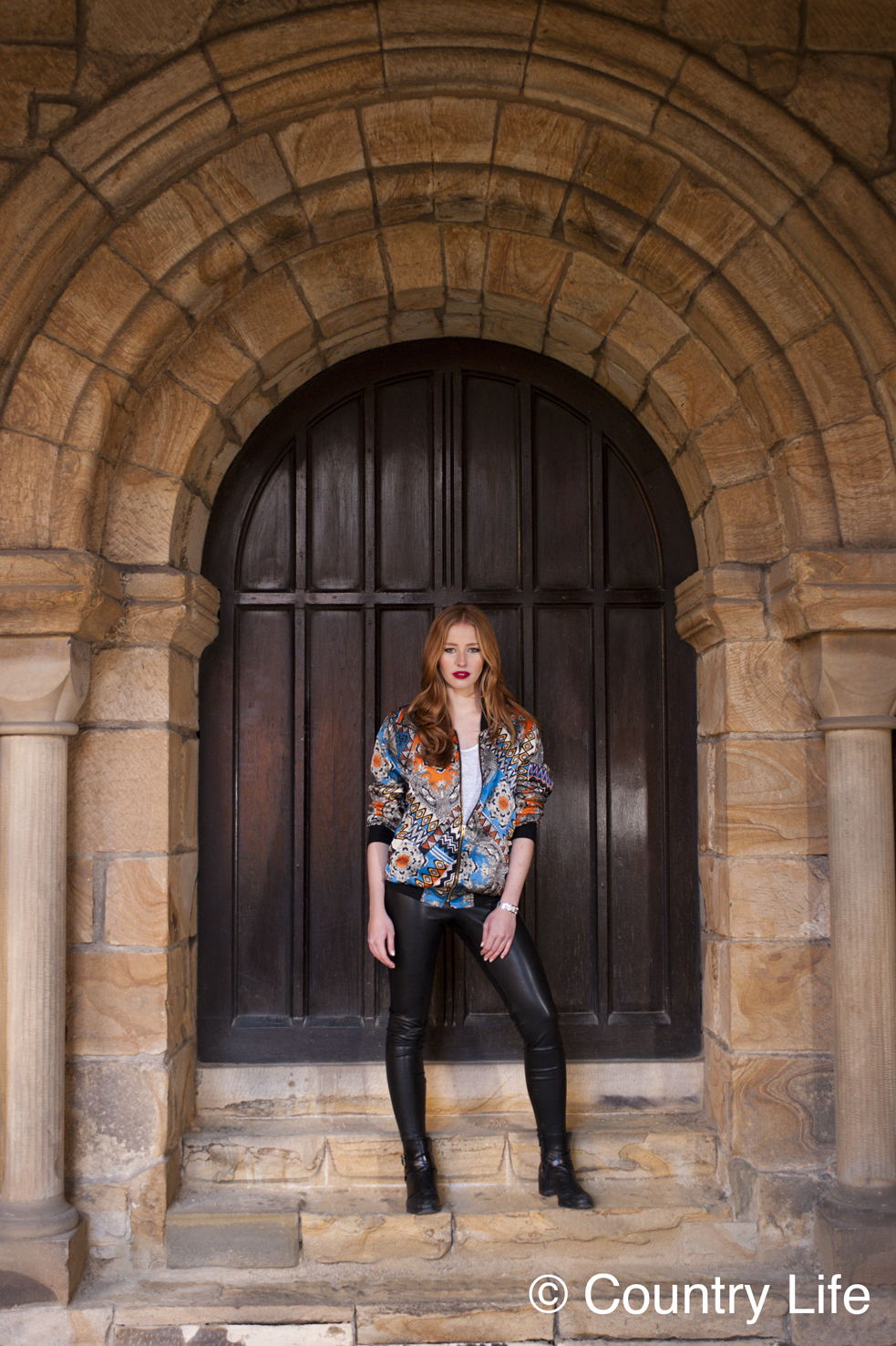 Christine Leysen for Country Life Frontispiece. Taken at Durham Cathedral. Photographer: Georgina Cranston