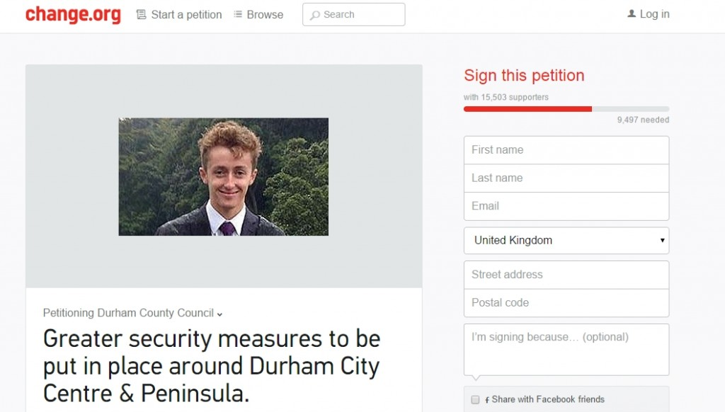 The petition calls for better railings, lighting and other safety measures surrounding the river.