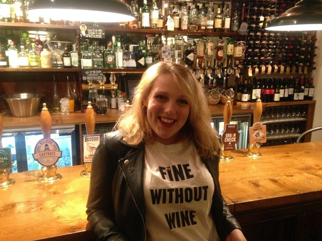 My cool new 'Fine Without Wine' tshirt