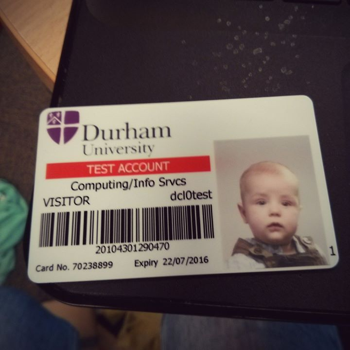 Teddy's library card