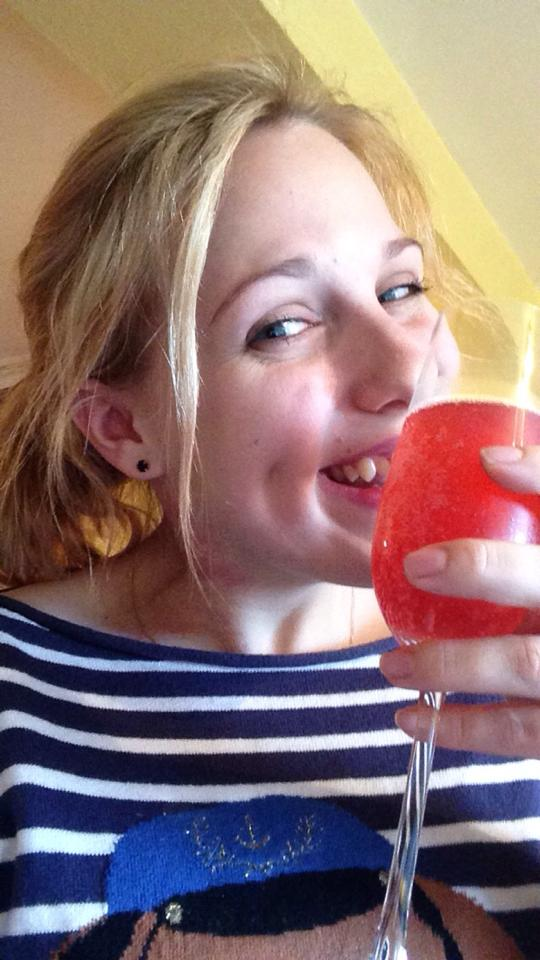 Kat had to put up with pink lemonade instead of champagne